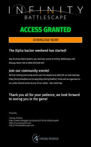 Ideas for a better Alpha/Beta Play-Test-Weekend email invite